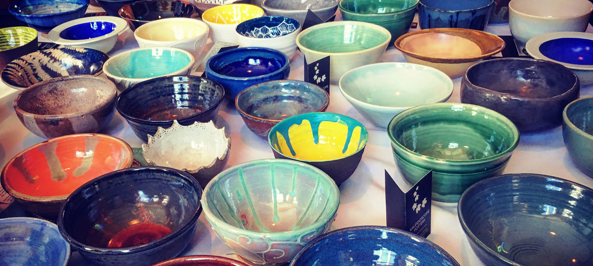 Handmade ceramic bowls.